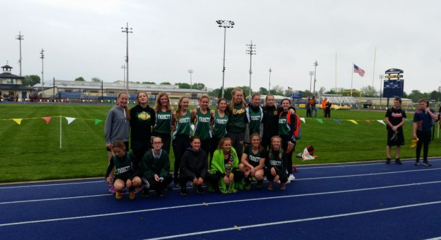 Fassett Girls Bring Home First Track and Field Banner
