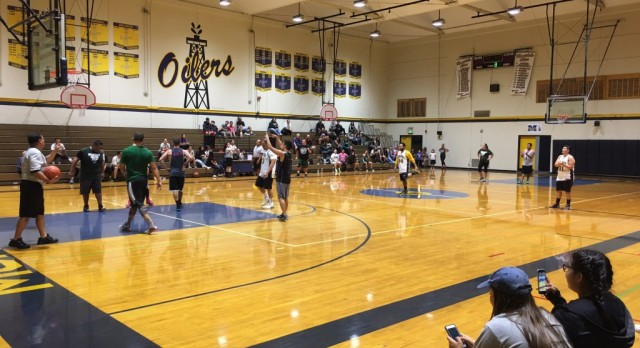 MHS defeats SHS in staff basketball game