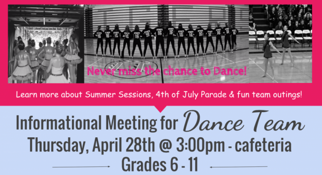 Informational Meeting For Dance Team