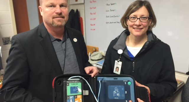 Delano Activities Administrator Presented New AED To Be Used At Sporting Events