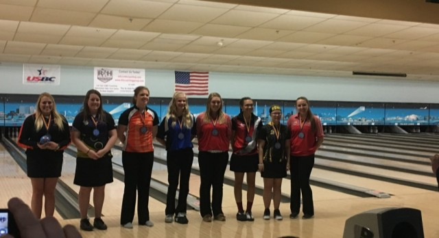 Lady Viking Bowlers Show Well Among State's Best