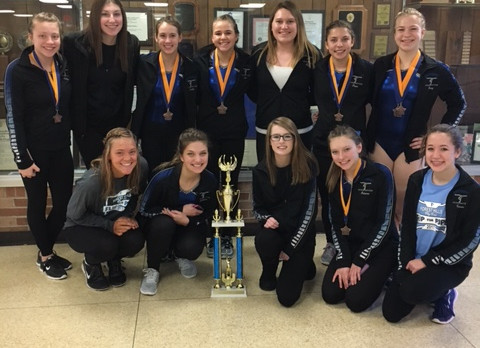 Gymnastics Team Finishes 3rd at Flip Fest