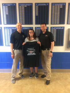 Coach Fisher, Grace Anspach, Nick Siets of Fire Fighter Safe