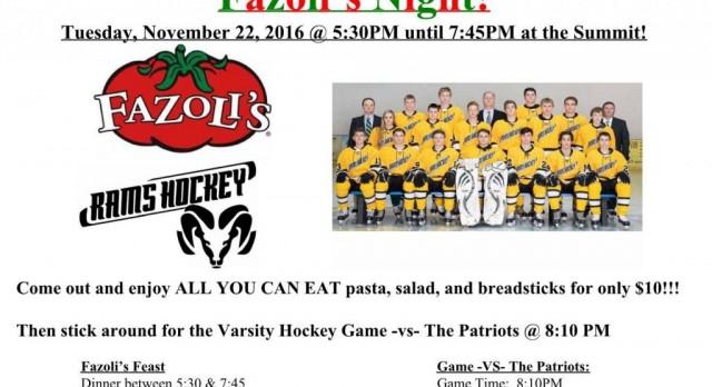 Holt Hockey Dinner Fundraiser