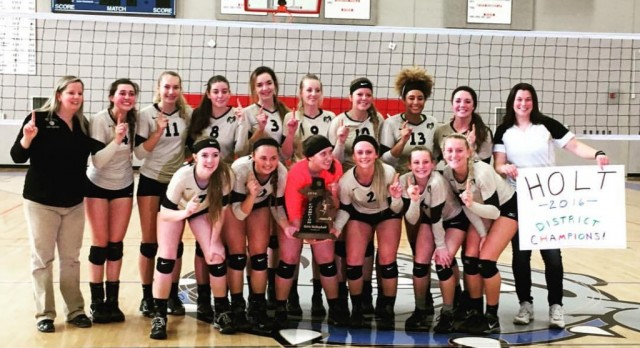 Varsity Volleyball District Champs!