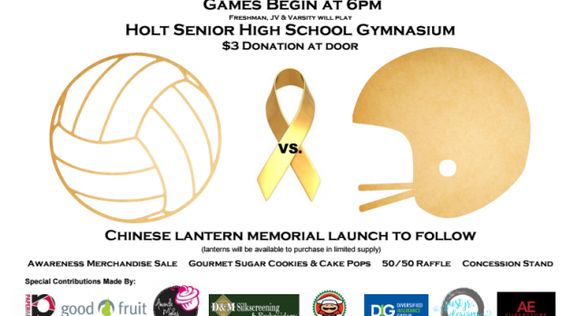 #GoGold Awareness Volleyball Game and Fundraiser for Childhood Cancer set for Sept. 25