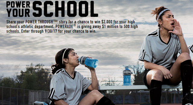 Powerade Holding Essay Contest Giving $2,000 to High Schools Across America