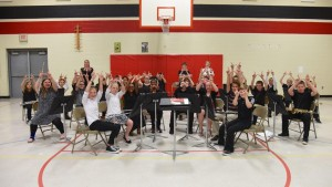 Freedom Elementary Band Students showing