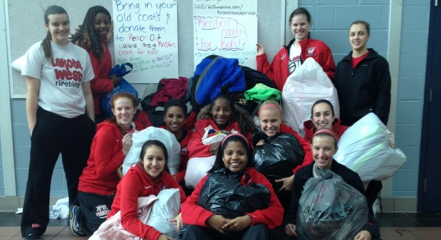 Girls Basketball Reaches Out Through Community Service Projects