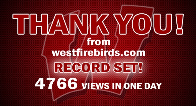 WestFirebirds.com Breaks Single Day Viewer Record