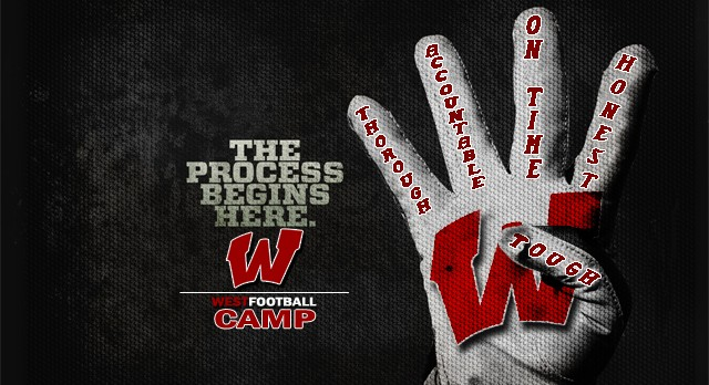 """Are You Ready For Some Football"" …Sign up today for West Football Camp!!"