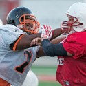 50+ Action shots of the West Football Scrimmage 8.12.14 by: Lou Spinazolla