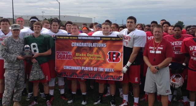 Lakota West Football: Darland Named Bengals/National Guard Player of the Week