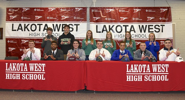 Sixteen Lakota West Student Athletes Sign National Letters of Intent (Updated with Photos)