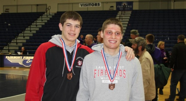 Lakota West Wrestling: Andrew Acuna and Mason Quinn Finish 5th at Districts