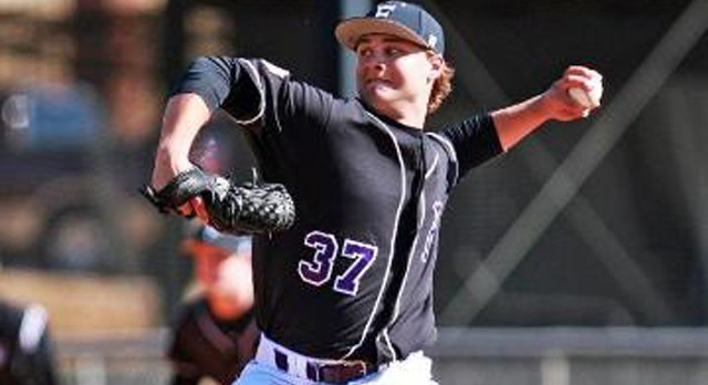 Lakota West Baseball Alum: Grant Schuermann pitches 7 innings beating Mercer, 8-4!