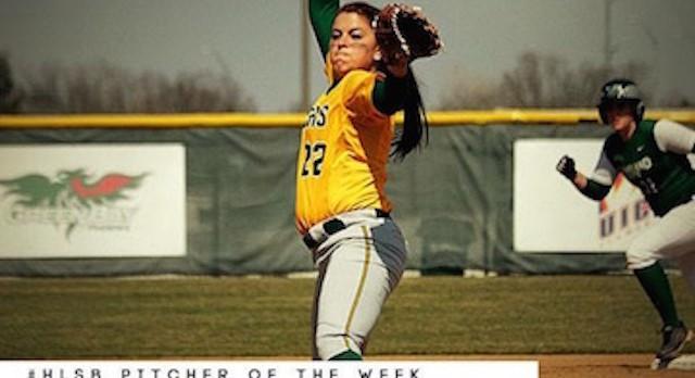 Lakota West Softball Alum: Ashley Sharp is Named the Horizon League Softball Pitcher of the Week!