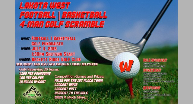 Sign up your team by Wednesday for the Football/Basketball Golf Scramble this Saturday @1:30pm