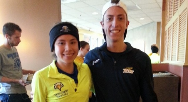 Lakota West Track & XC Alumni: Oeters and Corona-Luna run into each other at collegiate meet