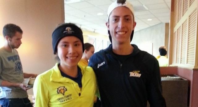 Lakota West Track & XC Alumni: Oeters and Corona-Luna run into each other at collegiate meet