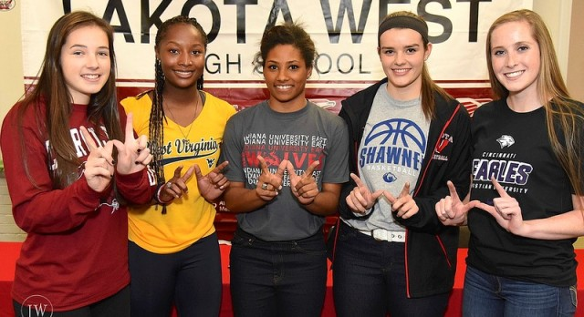 Five Lakota West Student-Athletes Sign at Fall Early Signing Ceremony