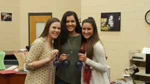 (L to R) Alyssa Phelan, Makenna Singh, Courtney Whited