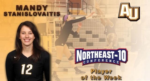 Lakota West Volleyball Alum: Mandy Stanislovaitis Nets Third NE-10 Player of the Week Honor