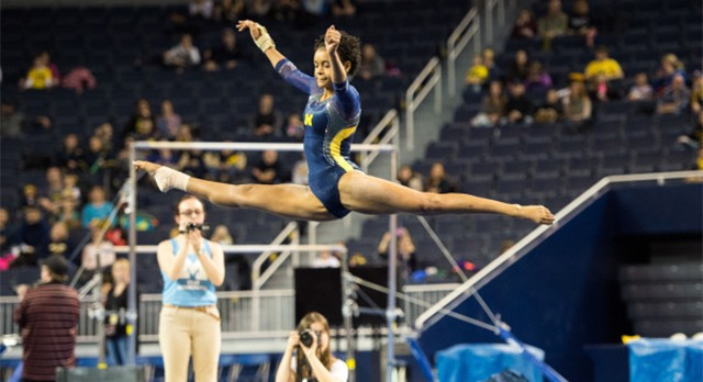 Lakota West Gymnastic Alum: Brianna Brown Helps Michigan Win in More Ways Than One against Ohio State (Video)