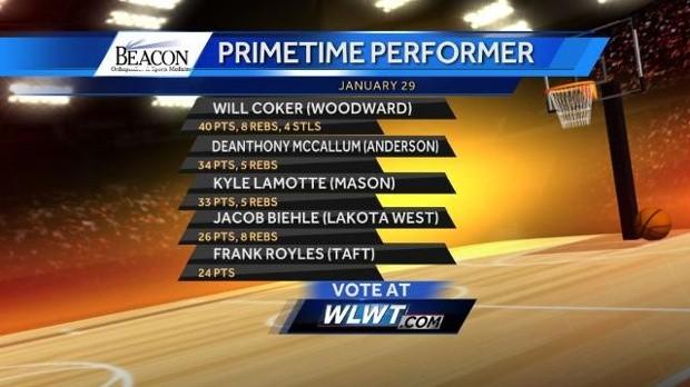 Lakota West Basketball: Vote For Jake Biehle for Beacon Orthopaedics Primetime Performer