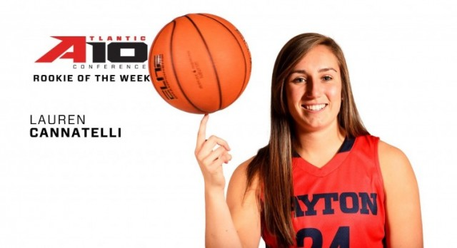 Lakota West Alumni: Lauren Cannatelli Named A-10 Rookie of the Week, Again