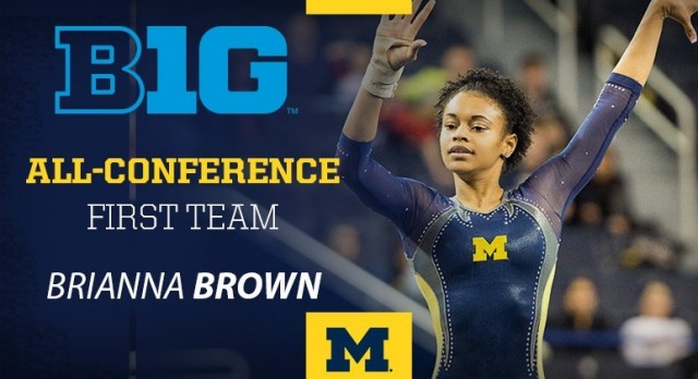 Lakota West Gymnastic Alum: Brianna Brown Named All-Big Ten First Team For The Second Straight Year.