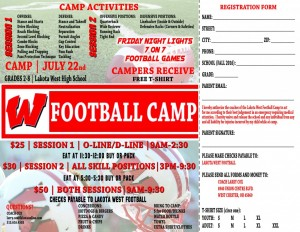 West Football Camp Flyer2016