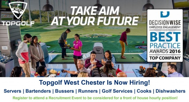 Top Golf Is Offering Full/Part-Time Jobs to West's Best and Brightest!