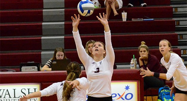 Lakota West Volleyball Alum: Allie Muha records 55 assists beating Ohio Dominican!
