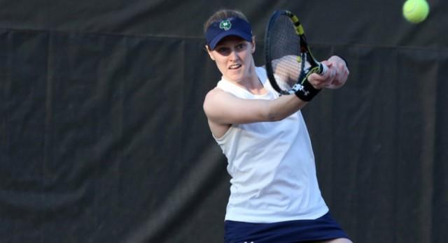 Lakota West Tennis Alum: Brooke Broda continues her 14-match winning streak for Notre Dame!