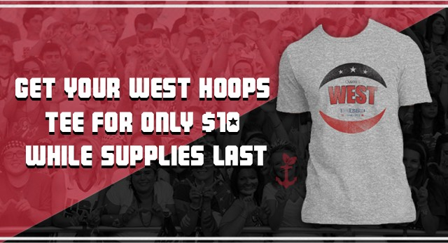 Attn Firebird Nation: Get your $10 West Basketball Tee for the East/West Game!
