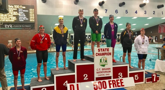 Lakota West Swim & Dive: Five Firebirds Place at OHSAA State Championships; School Records Fall