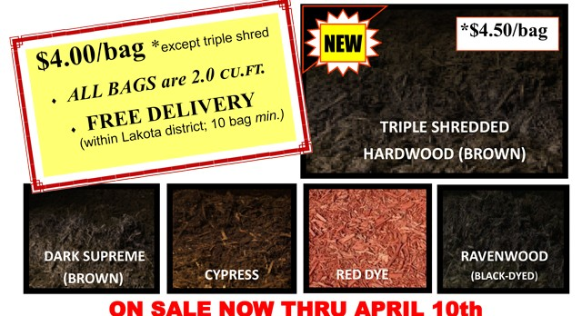 Order Now! Lakota West Football Mulch Sale Thru April 10th…FREE DELIVERY!