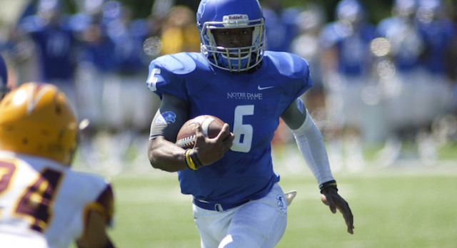 Lakota West Football & Bowling Alum: Notre Dame College, OH., quarterback Malik Grove impressive on field and lanes (video)