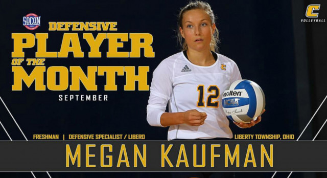 Lakota West Volleyball Alum: Megan Kaufman Tabbed September Defensive Player of the Month