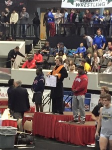 Bret Winters stands on the podium undefeated.