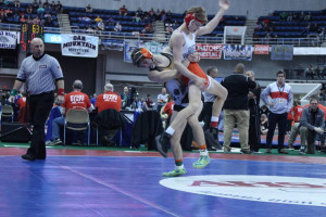 Gage Camp takes his opponent back to the mat