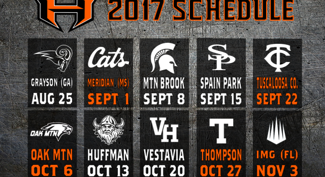 Hoover Football Schedule 2017