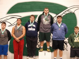 Landon Porter takes first place in his weight class.