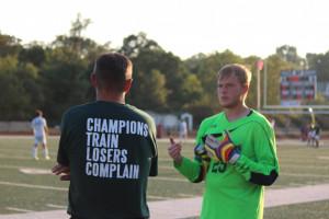 Coach Reiser and Shaun Brooks (11)