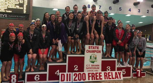 Orrville Swimmers End Season on State Podium