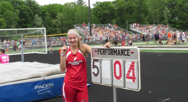Hannah Hall High Jump State Champion