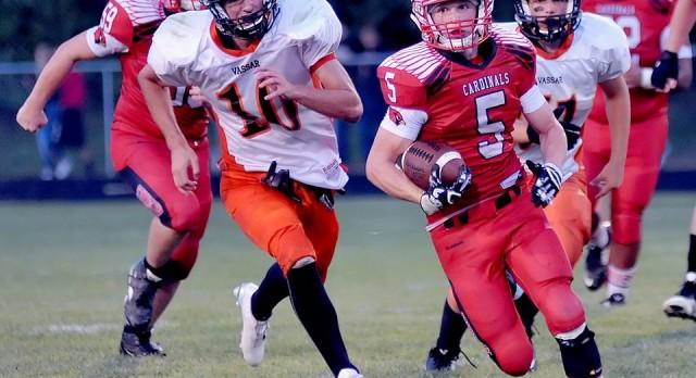 Millington High School Varsity Football beat Vassar HS/JH 55-6