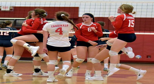 Millington High School Girls Varsity Volleyball falls to vs Frankenmuth HS 3-0