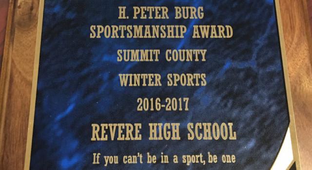 REVERE WINS H.PETER BURG SPORTSMANSHIP AWARD!